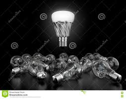 Light Bulb Laying Down Led Bulb And Incandescent Bulb Stock Illustration
