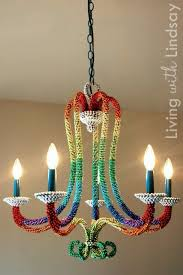 diy lighting ideas for teen and kids rooms rainbow beaded chandelier fun diy lights