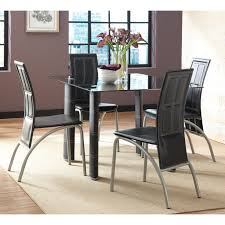 steve silver calvin 5 piece glass dining table set gfrgpcb