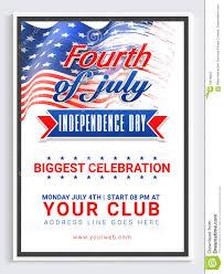 Pamphlet Banner Or Flyer For 4th Of July Stock Illustration