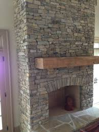 fireplace mantel wood building our diy the tile stacked designs kits dry stack wall brick stone