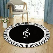 black white modern floor rug mats piano noted round living room decoration carpet geometry style rugs decoration multi coloured carpet carpet and flooring