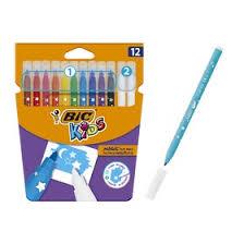 <b>Фломастеры</b> 10 цветов +2 обесцвечивающих <b>BIC</b> Kids Magic ...