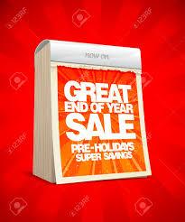 End Of Year Sale Design In Form Of Tear Off Calendar