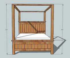 four poster bed plans. Interesting Bed Dimensions Inside Four Poster Bed Plans S