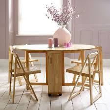 image of round folding dining table