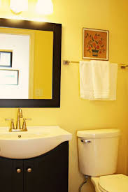 Remodel Small Bathroom Ideas With Wall Decor And Yellow Walls - Bathroom remodel tulsa