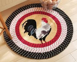 rooster kitchen rugs design