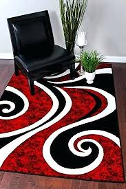 red black rug red black swirl white area rug carpet modern abstract red and black rugby