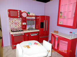 Dollhouse Kitchen Furniture Kitchen In Raes American Girl Doll House My American Girl