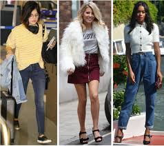 celebrity street style of the week lucy hale wearing a yellow and white striped long