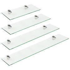 glass shelves for bathroom. hartleys clear glass floating wall mounted shelf chrome fixings bathroom display glass shelves for bathroom