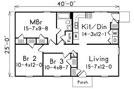 Elegant Cottage Style House Plan   3 Beds 1.00 Baths 1000 Sq/Ft Plan #57