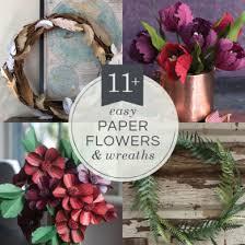 Christmas Paper Flower Wreath Crepe Paper Wreaths Lia Griffith
