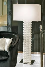 signature collection luxury grand scale geometric pyramid floor lamp sculptural ceramic art form white finish chromed plated steel 60w e27 silk luxury table lamps d20