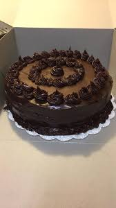 Homemade Chocolate Cake With Chocolate Ganache Food