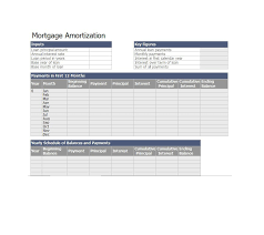 Loan Calculation Template 28 Tables To Calculate Loan Amortization Schedule Excel