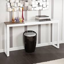 sofa console table. Immaculate Low White Console Table Your Residence Inspiration: Sofa Tables: Super Thin