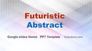 Futuristic Abstract Free Powerpoint Template And Google