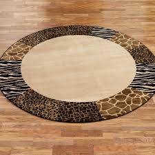 ... Safari Collage Animal Print Border Area Rugs Zebra Walmart Full Size