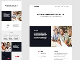 one page website template one page website template sketch freebie download free resource