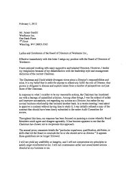 Resignation From Board Resignation Letter From Donald P Wood