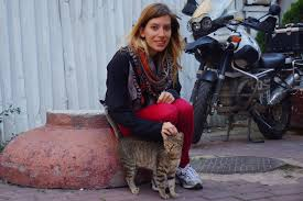the stray cats of istanbul turkey photo essay and travel video here is audrey petting a cute cat it won t be long before i