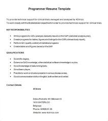 Sas Programmer Resume Sample - Costumepartyrun