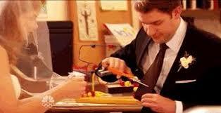 In The Office S6 E5 When Jim Cuts His Tie Half Of The Tie