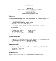 High School Resume For College Template 64 Images Resume For