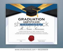 High School Diploma Certificate Fancy Design Templates Illustration Of Graduation Certificate Download Free
