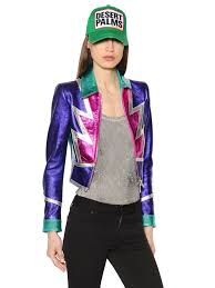 dsquared2 patchwork nappa leather jacket multicolor otyx0 women clothing dsquared sneakers dsquared biker