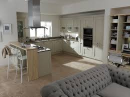 Small Kitchen U Shaped Glass Doors Double Door Cabinets Marble Flooringmodern Kitchen U