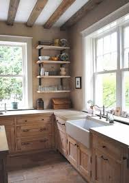 Kitchen: Industrial Rustic Kitchen With Wood Accents - Kitchens
