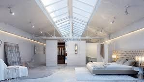 Loft Bedrooms Industrial Loft Bedroom Interior Design Ideas