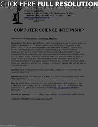 Computer Science Intern Resume Resume Work Template
