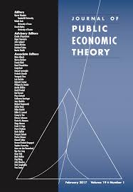 template for submissions to journal template for submissions to journal of public economic theory