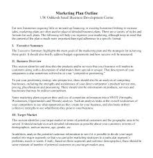 Executive Summary Outline Marketing Plan Overview Sample Andeshouse Co