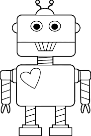 Small Picture Robot Heart Coloring Page Wecoloringpage