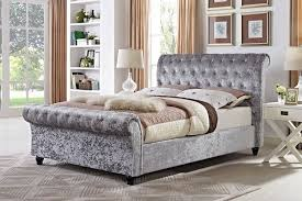 upholstered sleigh beds. Belford Chesterfield Upholstered Sleigh Bed Frame Beds I