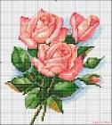 Схемы вышивок розы и