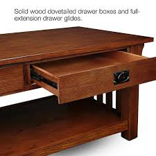 mission style coffee table with drawers elegant oak set tables beautiful