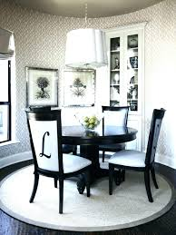 best rug under round dining table and chairs rugs for room ideas proper size