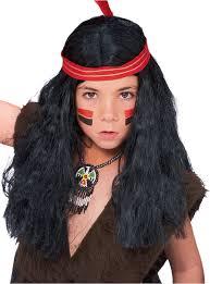 kids indian wig native american indian wig indian warrior wig indian costume wig