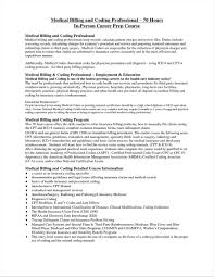Medical Billing And Coding Cover Letter With No Experience 69 Infantry