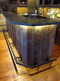 This is a great idea for a man cave, bar or den. Custom reclaimed