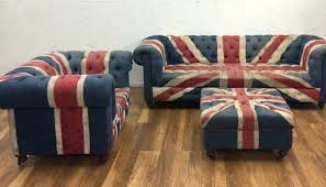 union jack furniture. Union Jack Furniture For Sale 3 Settee Chair Footstool Chairs Uk . T