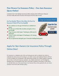 non owners insurance quotes 44billionlater