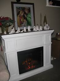 artesian 28in white electric fireplace cabinet mantel package