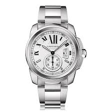cartier calibre de cartier watches the watch gallery cartier calibre de cartier automatic stainless steel mens watch w7100015